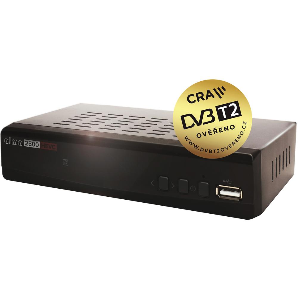 DVB-T/T2 přijímač ALMA 2800 (H.265/HEVC)
