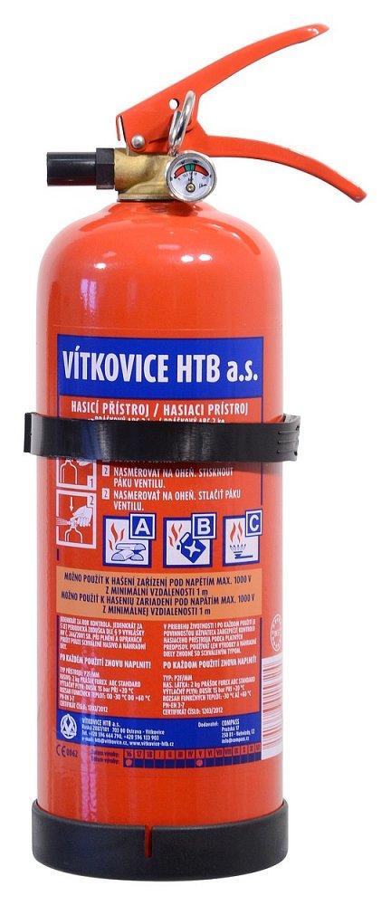 Hasicí přístroj práškový 2 kg ABC