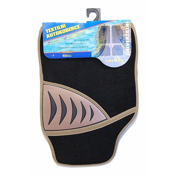 Koberce textilní SHARK 4ks béžové